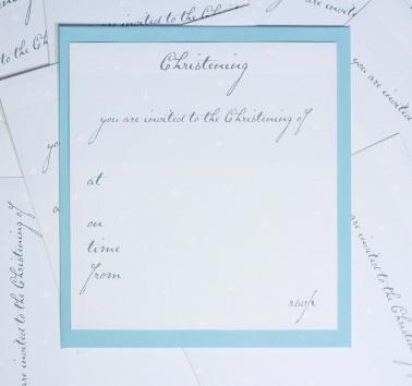 Boys Christening Invitations (T12)