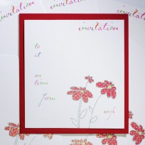 Party Flowers Invite (T23)