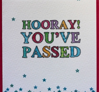Hooray! You've Passed (V17)