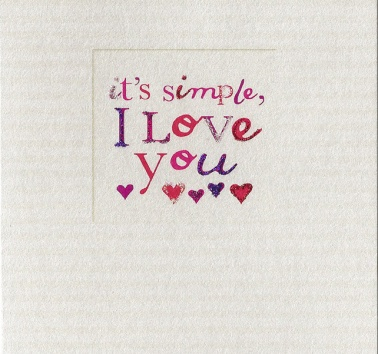 I Love You It's Simple (255)