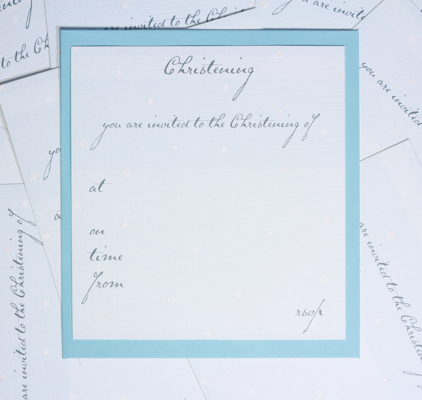 Odey Designs Boys Christening Invitations T12