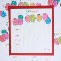 Party Balloons Invitations (T13)
