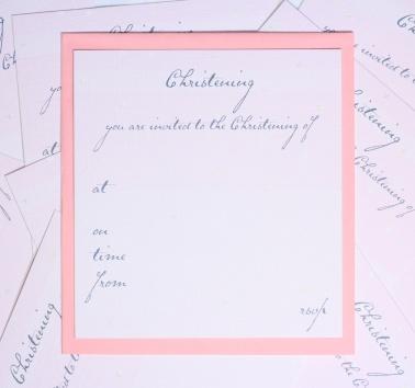 Girls Christening Invitations (T15)