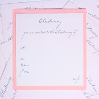 Girls Christening Invitations (T15)