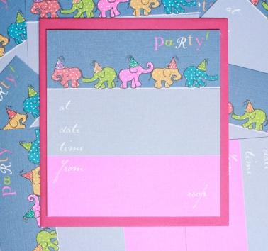 Party Elephants Invite (T16)