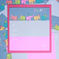 Party Elephants Invite (T16)