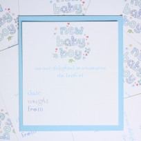 Baby Boy Announcements (T18)