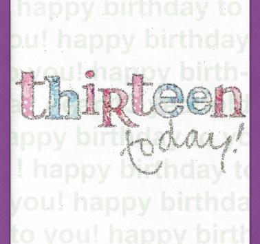 Thirteen Today (089)