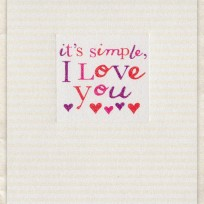 It's Simple, I Love You (D232)